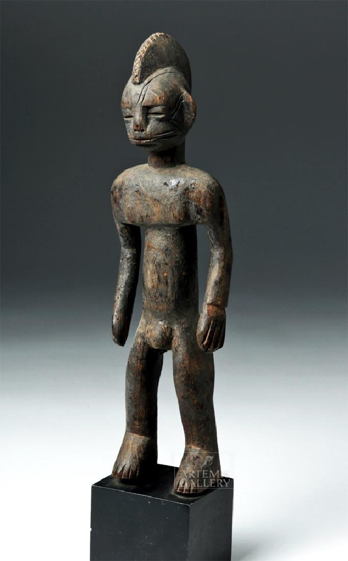 Early 20th C. African Bamana Turka Wooden Male Figure