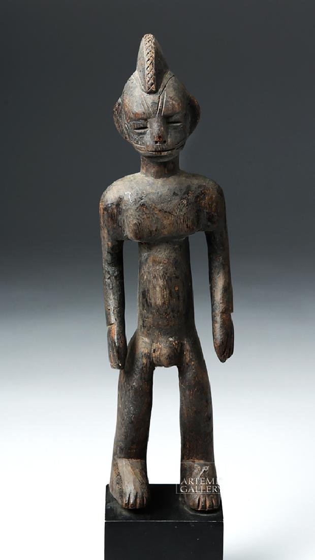 Early 20th C. African Bamana Turka Wooden Male Figure - 2