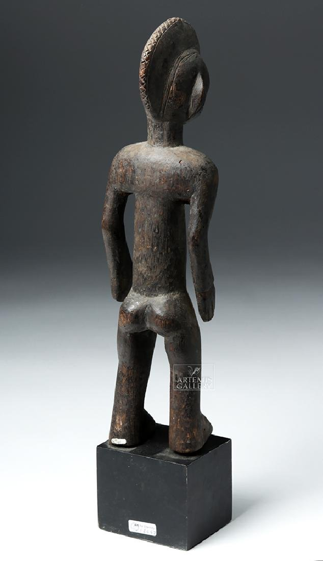 Early 20th C. African Bamana Turka Wooden Male Figure - 4