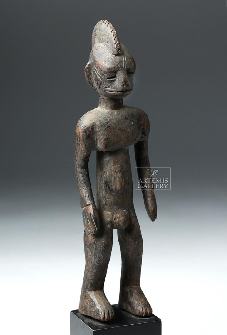 Early 20th C. African Bamana Turka Wooden Male Figure - 5