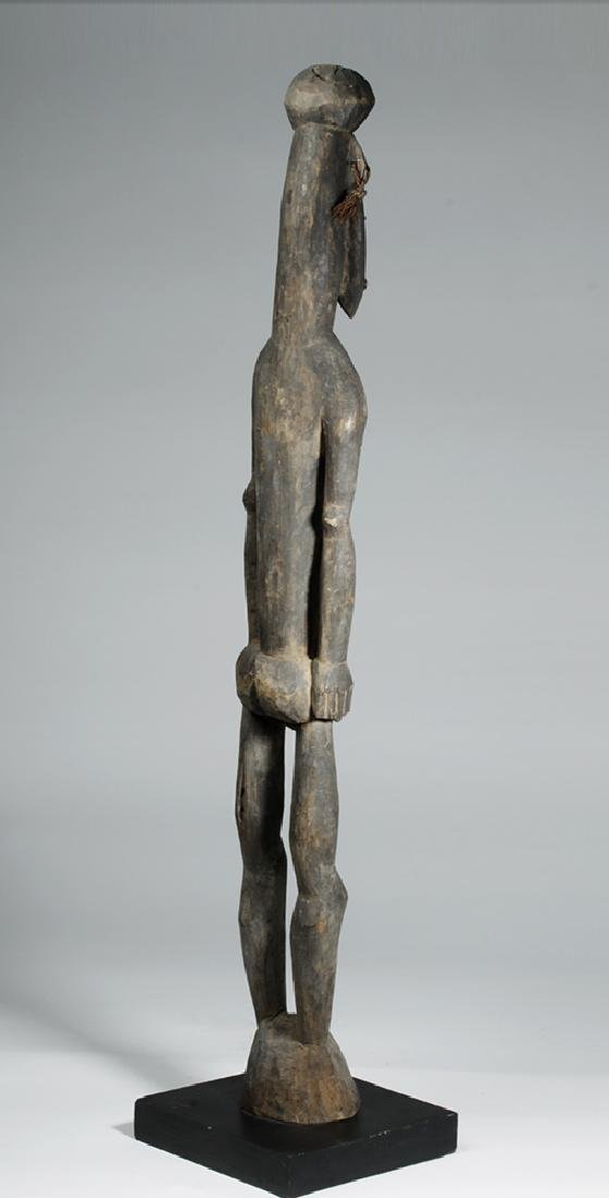 Tall / Early 20th C. PNG Carved Wood Ancestor Figure - 4