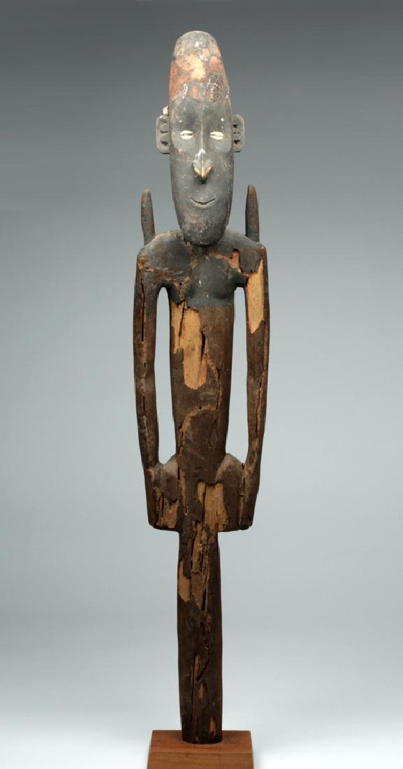 19th C. Papua New Guinea Wooden Ancestor Figure