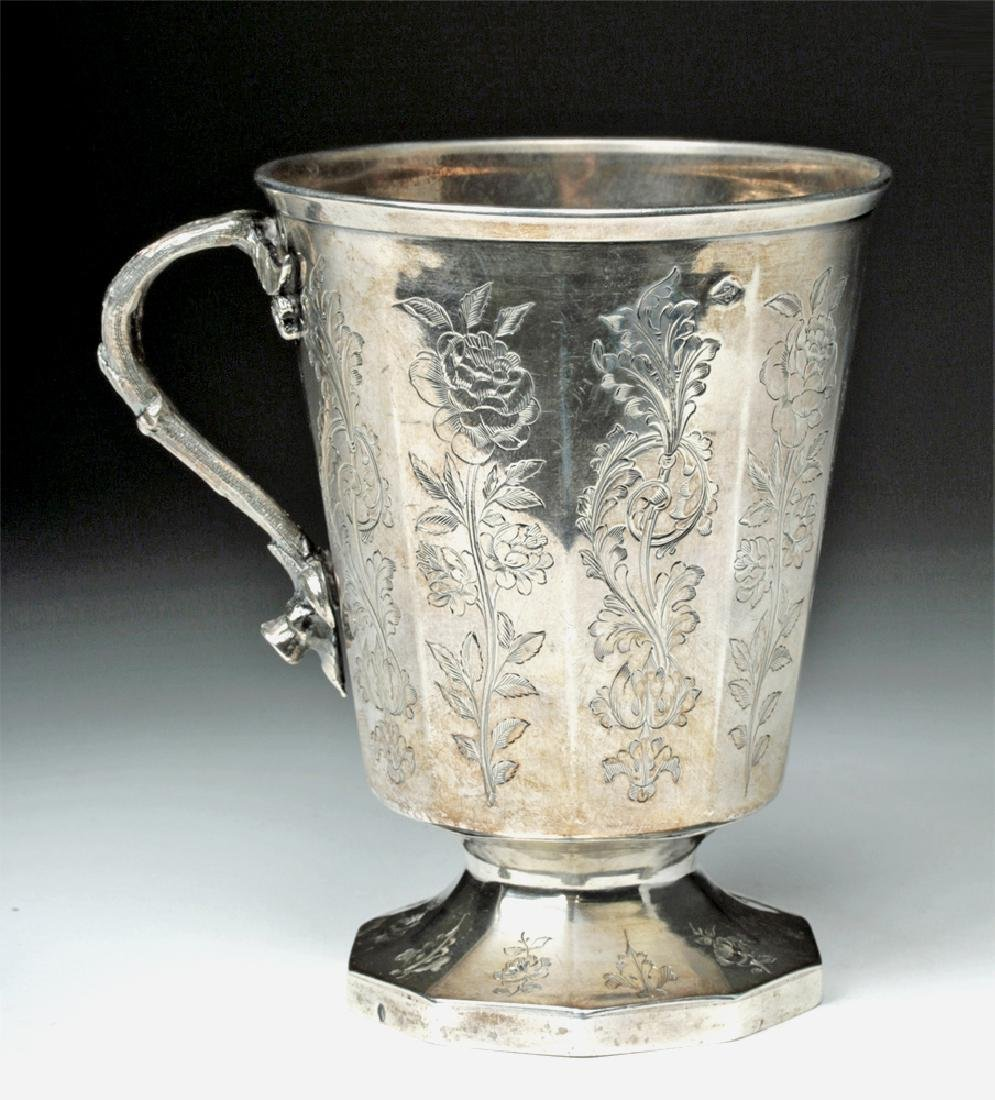 19th C. Spanish Colonial Sterling Silver Cup, 223.7 g