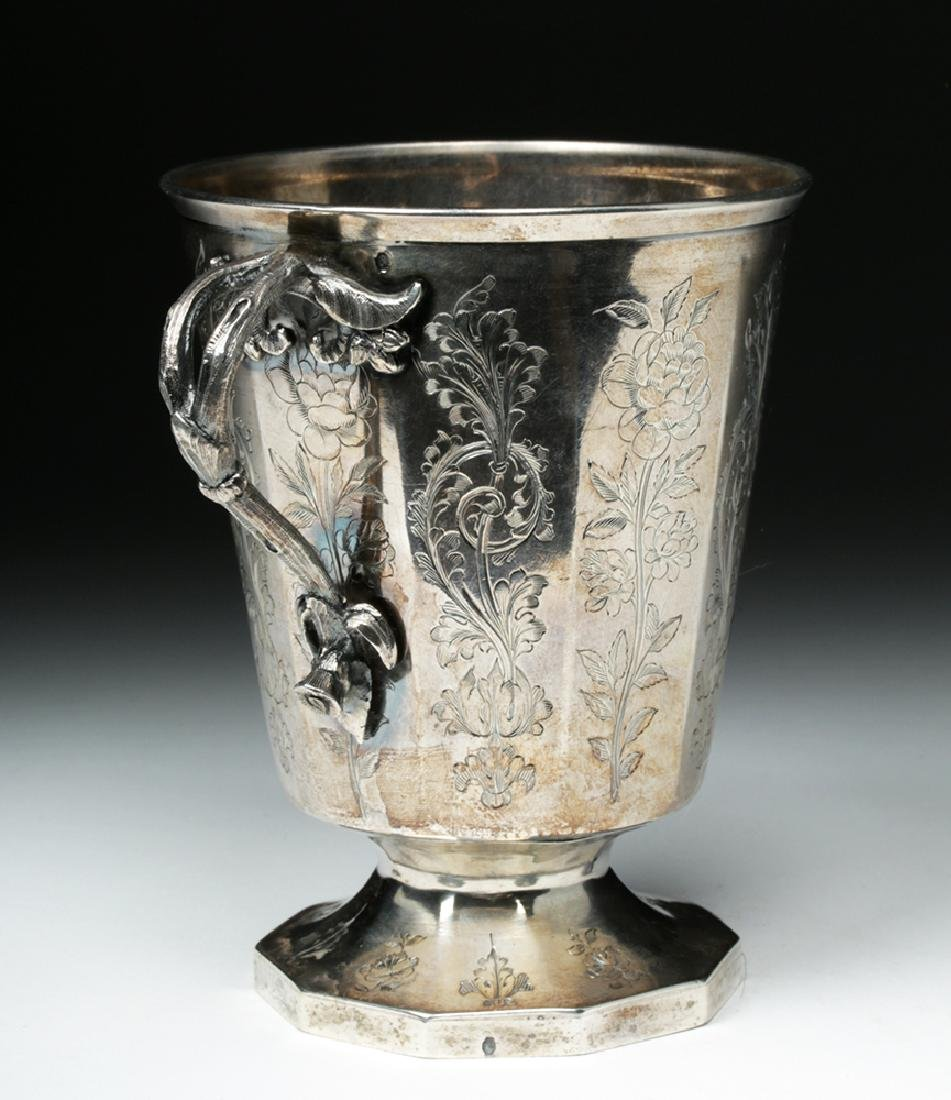 19th C. Spanish Colonial Sterling Silver Cup, 223.7 g - 2