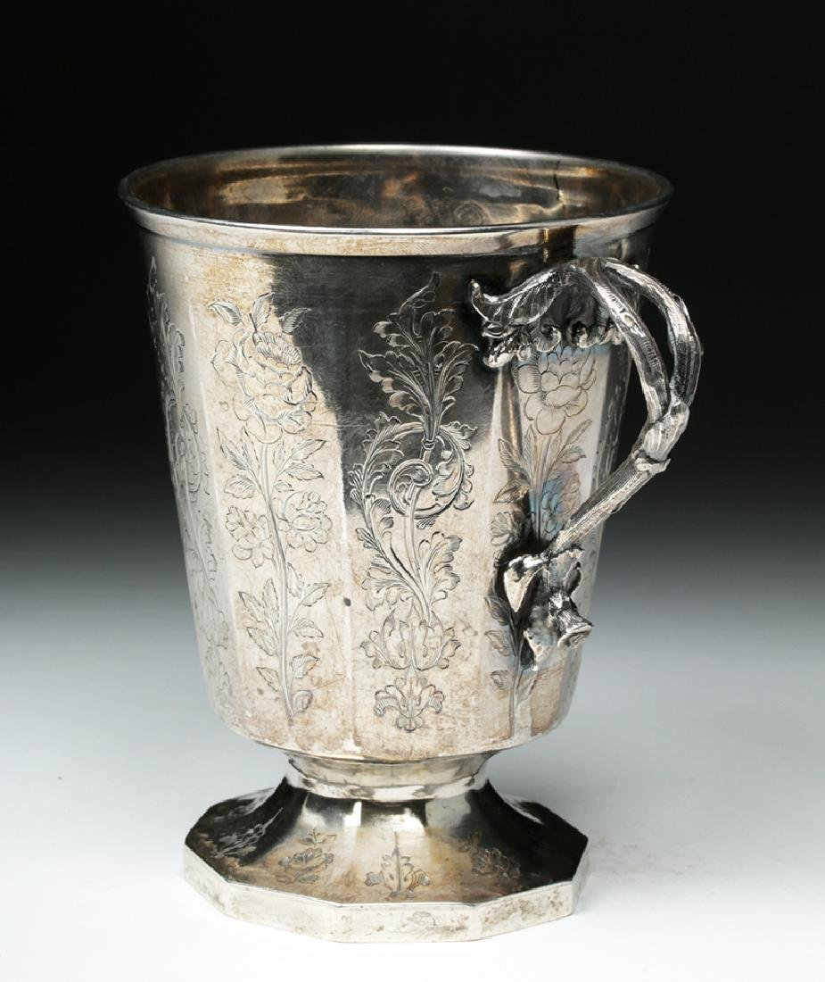 19th C. Spanish Colonial Sterling Silver Cup, 223.7 g - 3