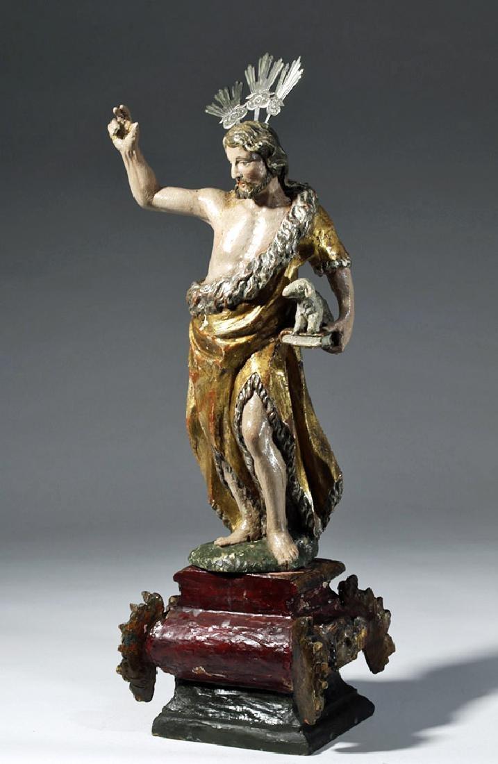 19th C. Spanish Colonial Wood Santo Christ, Lamb of God