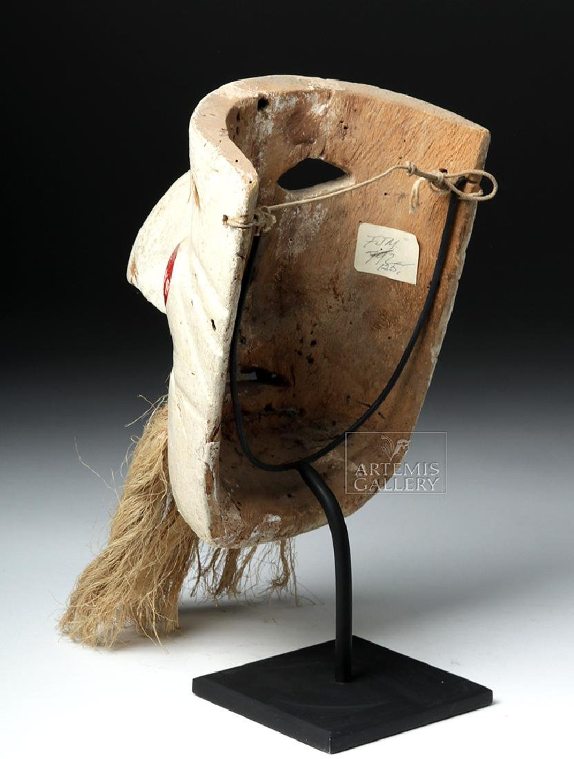 Early 20th C. Mexican Wood Mask - Pastorela Hermit - 5