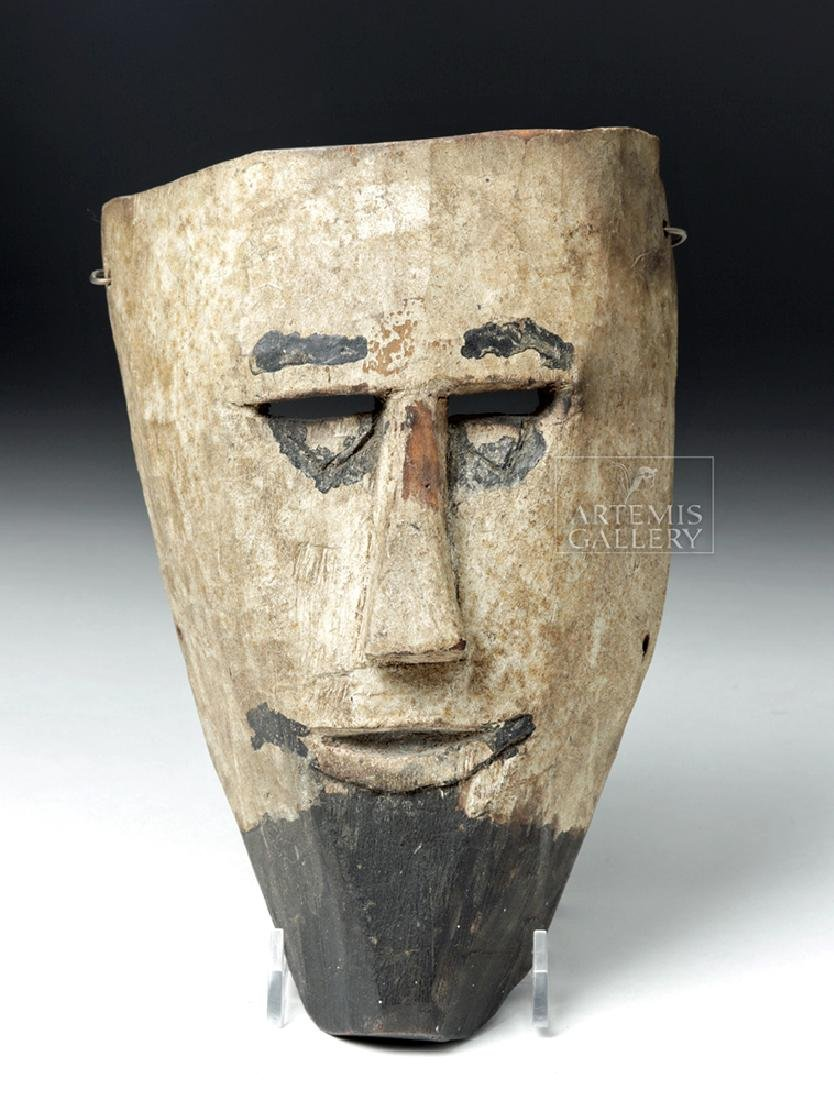 Early 20th C. Guatemalan Wooden Festival Mask
