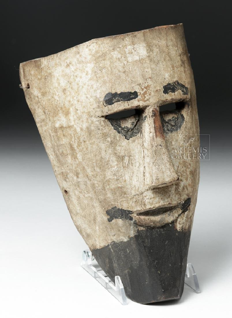 Early 20th C. Guatemalan Wooden Festival Mask - 2