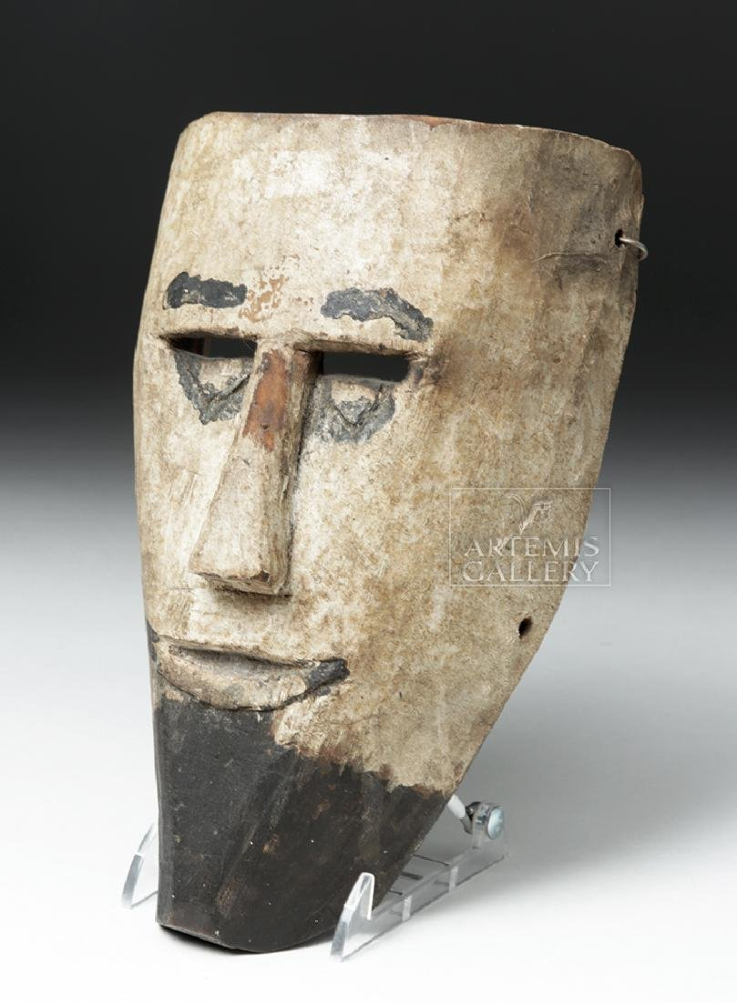 Early 20th C. Guatemalan Wooden Festival Mask - 3