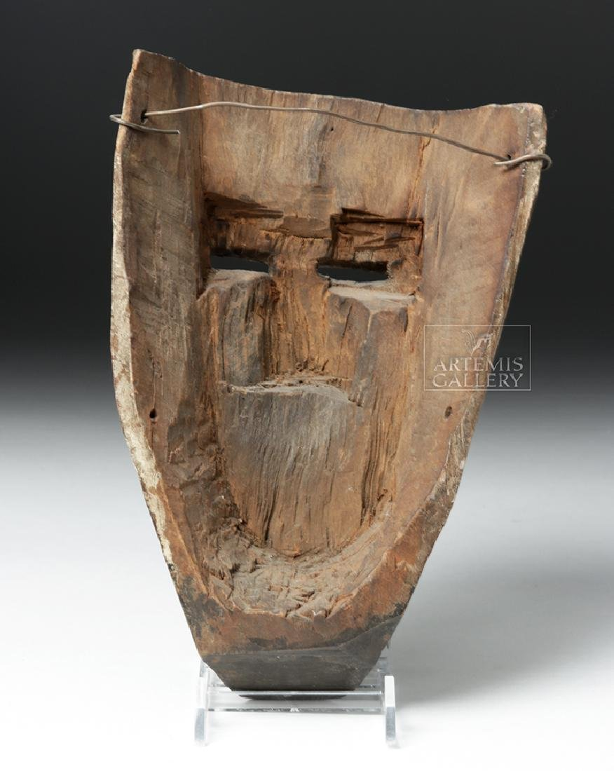 Early 20th C. Guatemalan Wooden Festival Mask - 4