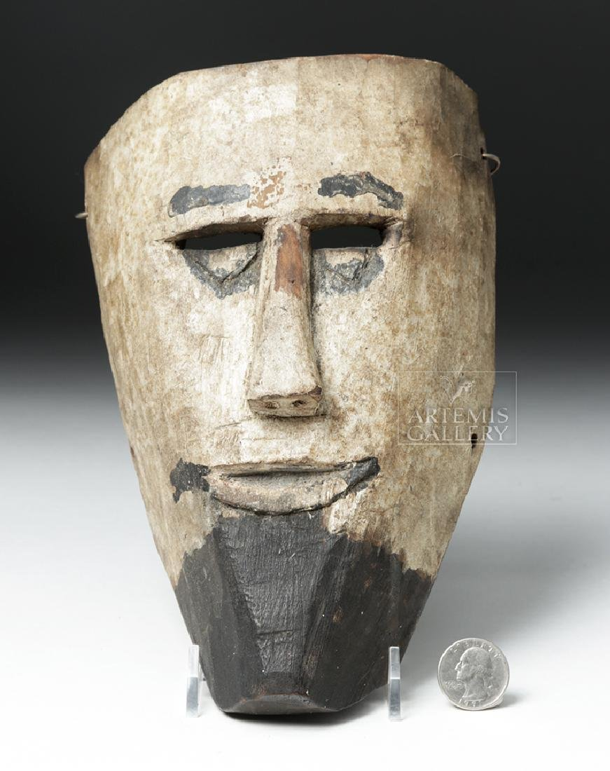 Early 20th C. Guatemalan Wooden Festival Mask - 5