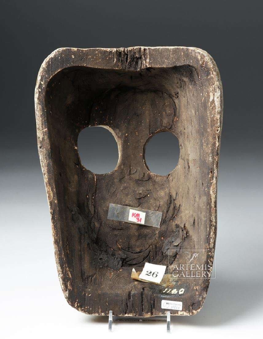 20th C. Mexican Wooden Day of the Dead Carnival Mask - 4
