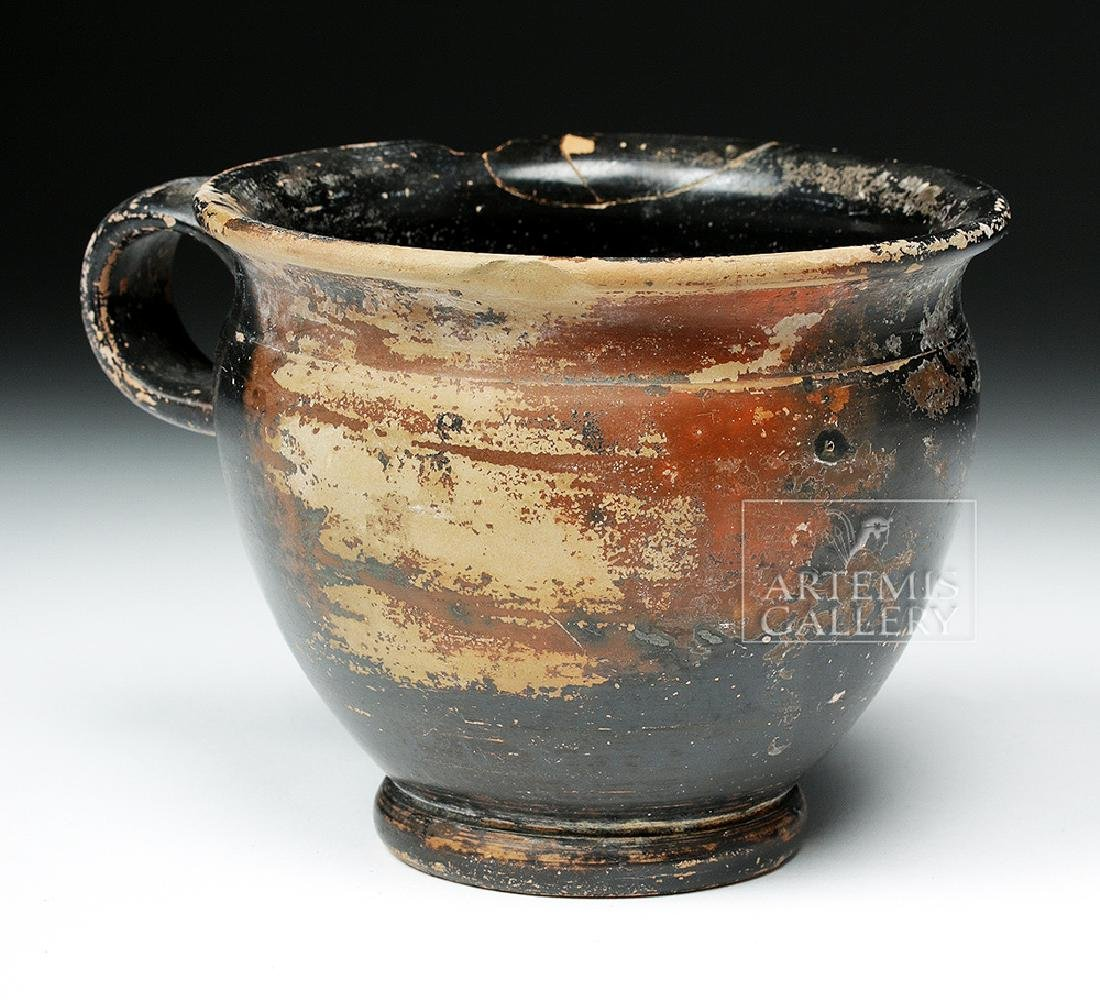 Attic Pottery Blackware Handled Cup