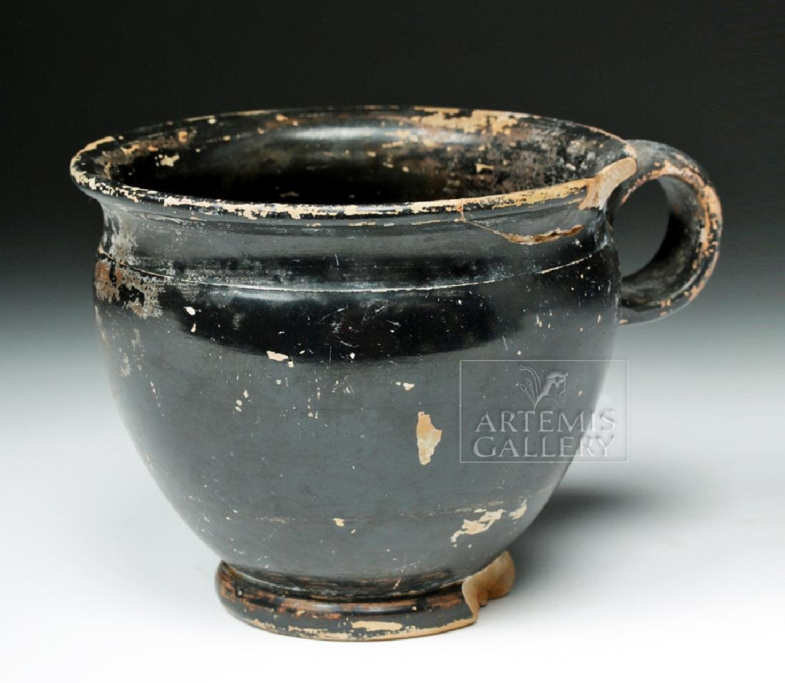 Attic Pottery Blackware Handled Cup - 4