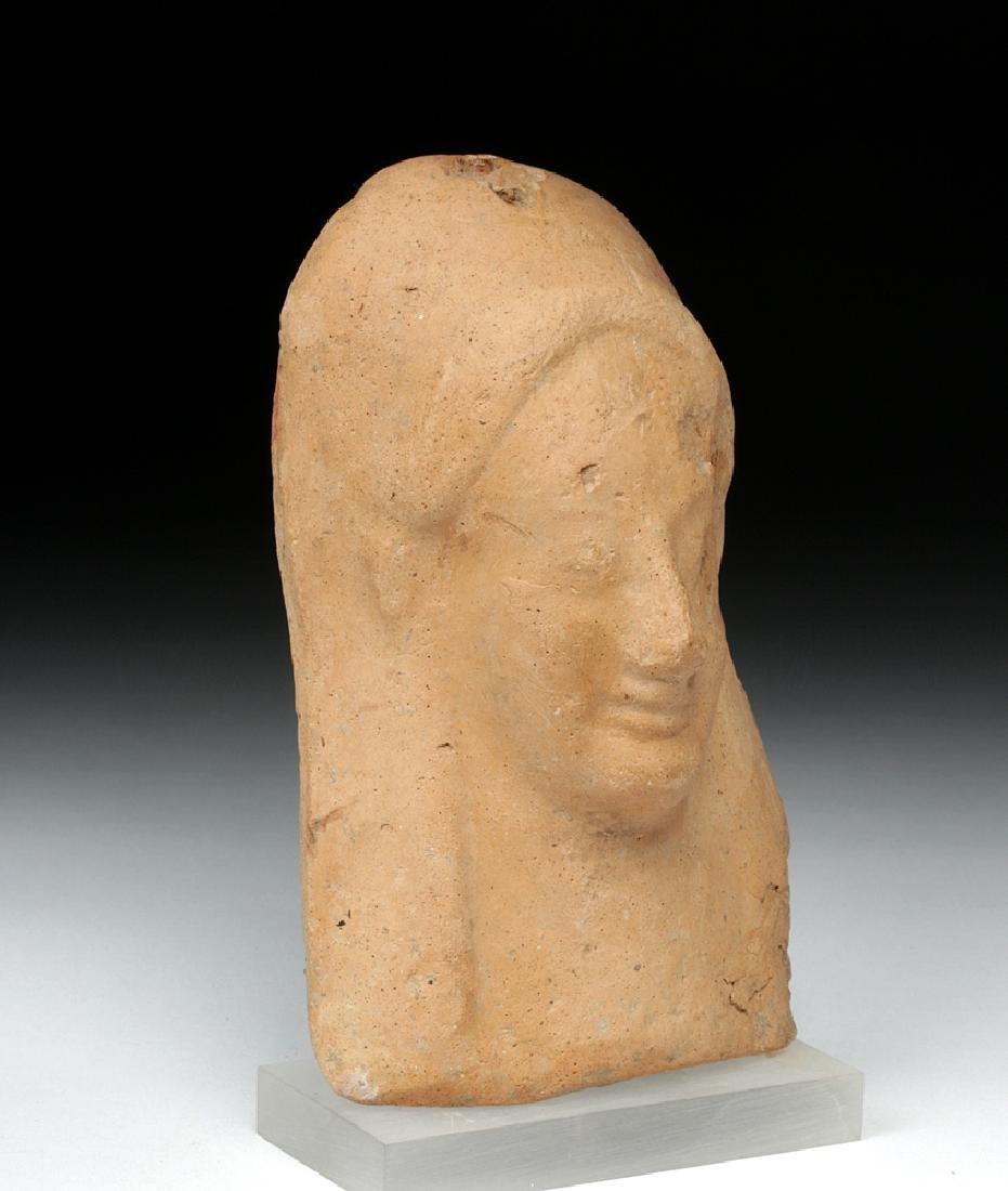Western Greek Earthenware Protome of Goddess