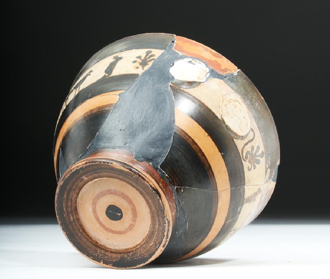 Greek Attic White Ground Pottery Skyphos - Lions - 7