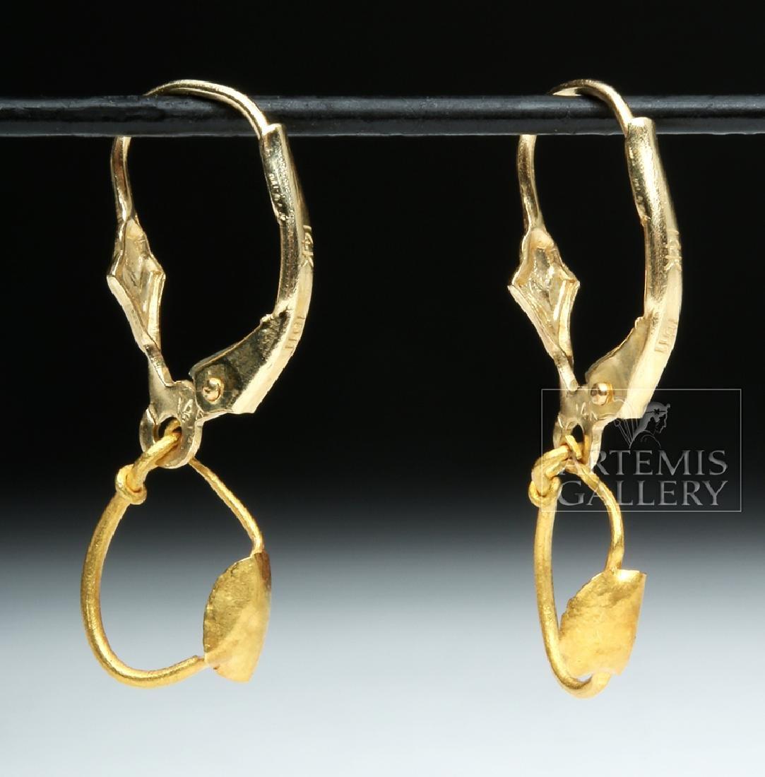 Delicate Ancient Roman 14K Gold Earrings