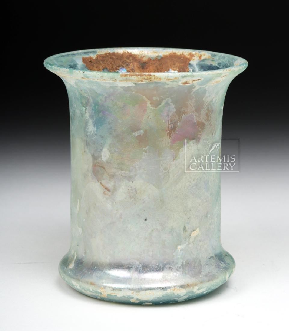 Roman Pale Green Glass Beaker - 2