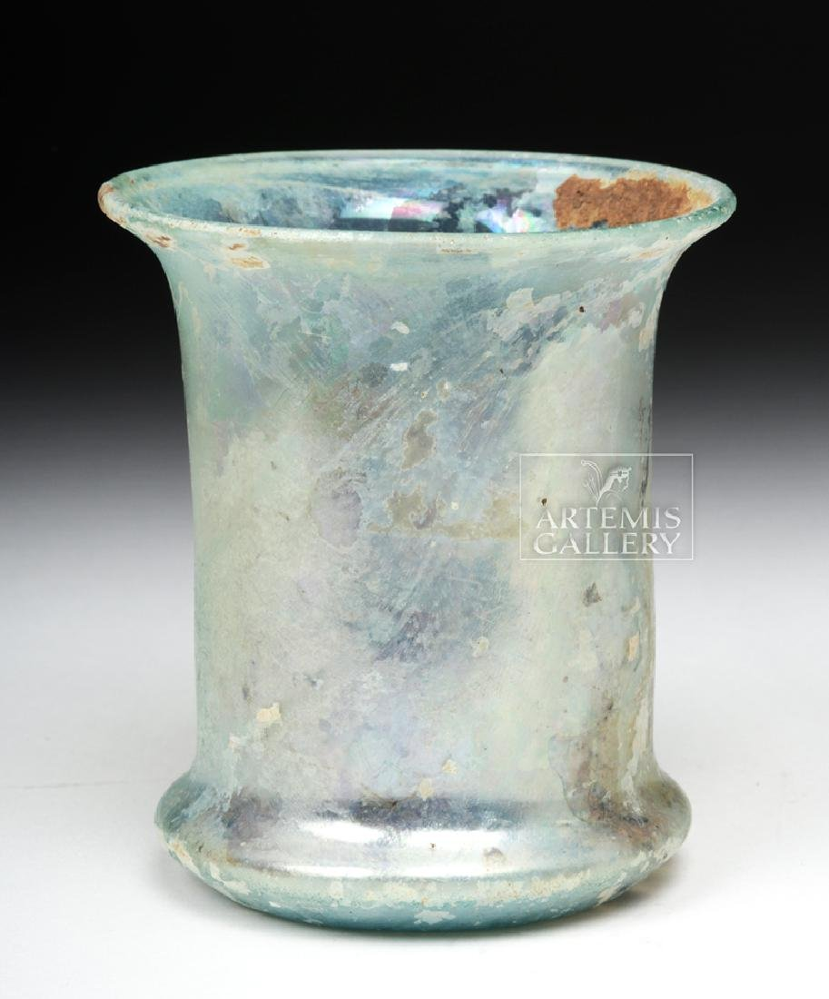 Roman Pale Green Glass Beaker - 3