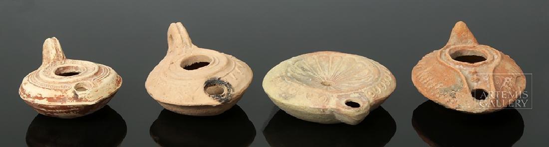Ten Ancient Pottery Oil Lamps - Roman & Byzantine - 3