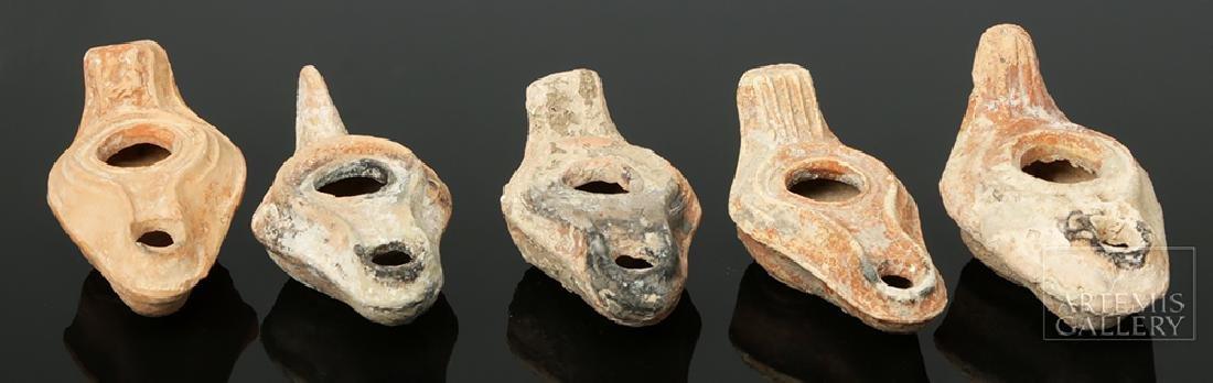 Ten Ancient Pottery Oil Lamps - Roman & Byzantine - 4