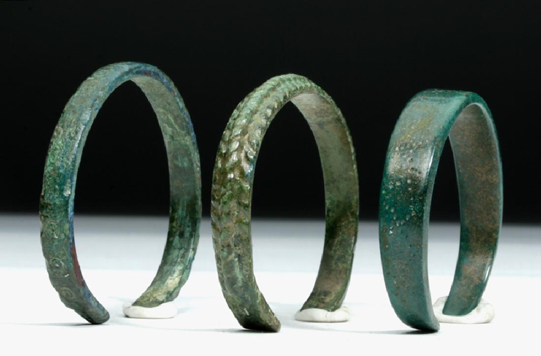 5th C. North European / Russian Bronze Bracelets (3)