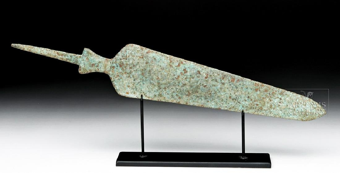Ancient Near Eastern Bronze Spearhead - Large Form