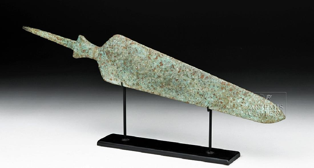 Ancient Near Eastern Bronze Spearhead - Large Form - 2