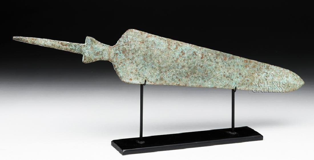 Ancient Near Eastern Bronze Spearhead - Large Form - 3