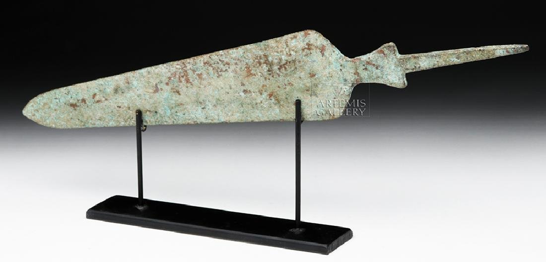 Ancient Near Eastern Bronze Spearhead - Large Form - 4