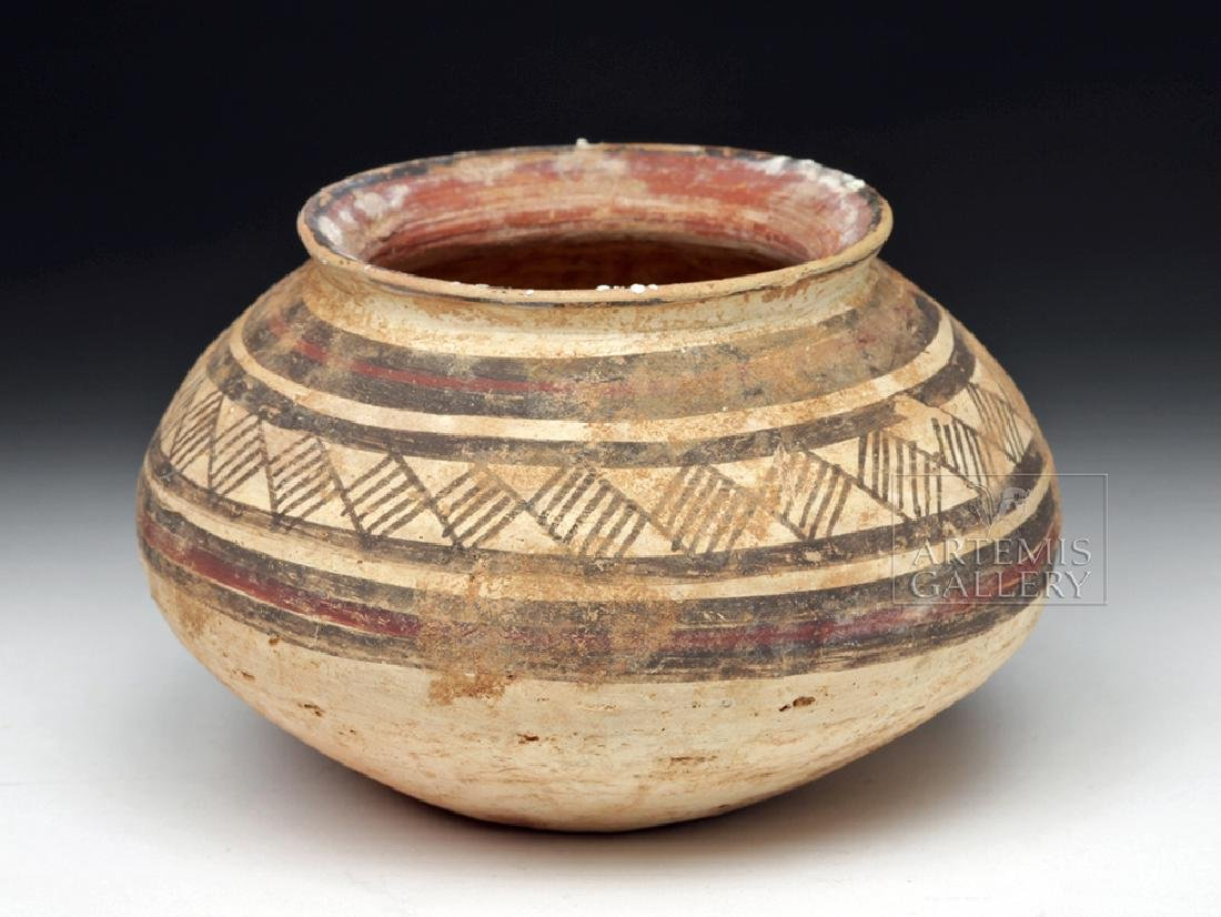 Indus Valley Harappan Pottery Jar - Geometric Motif