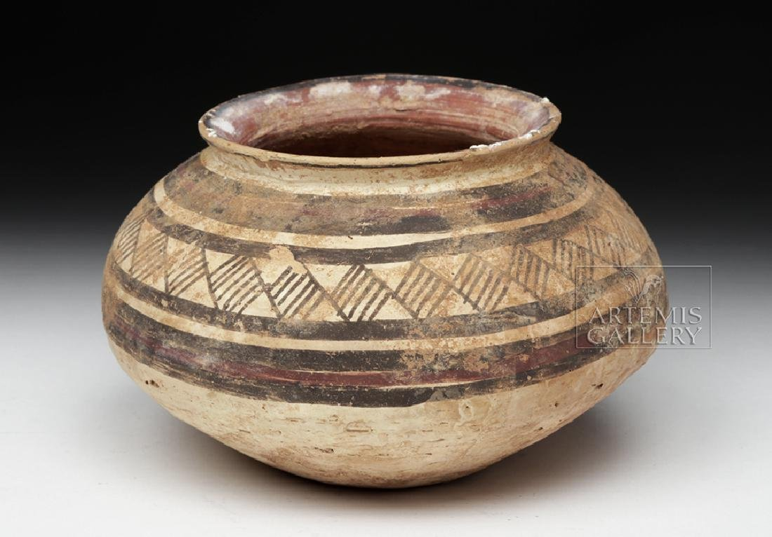Indus Valley Harappan Pottery Jar - Geometric Motif - 2