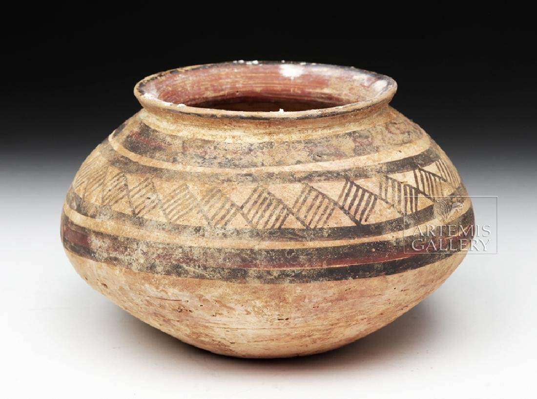 Indus Valley Harappan Pottery Jar - Geometric Motif - 3