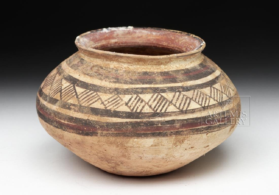 Indus Valley Harappan Pottery Jar - Geometric Motif - 4