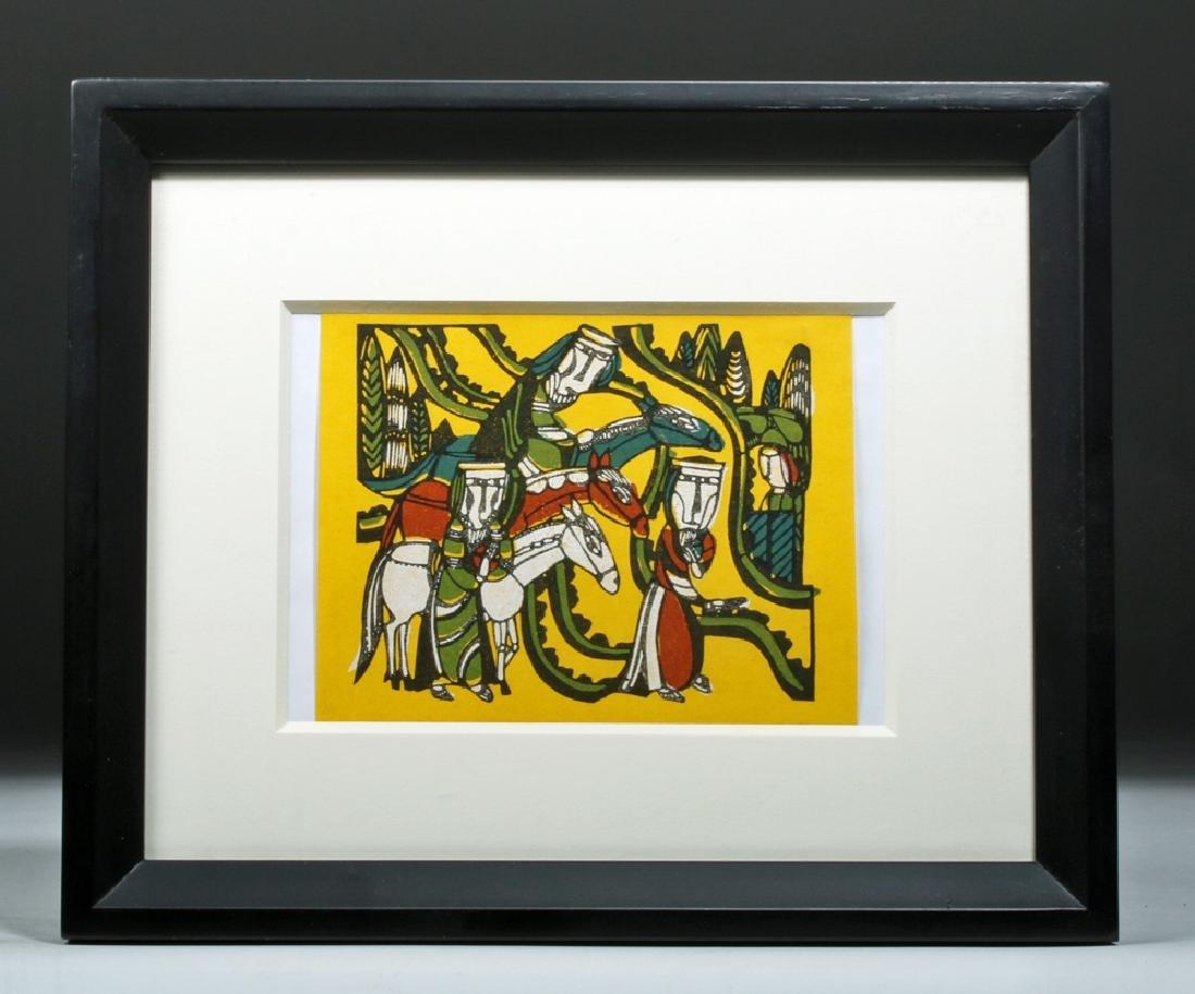 Mid 20th C Sadao Watanabe Framed Print - Three Wise Men