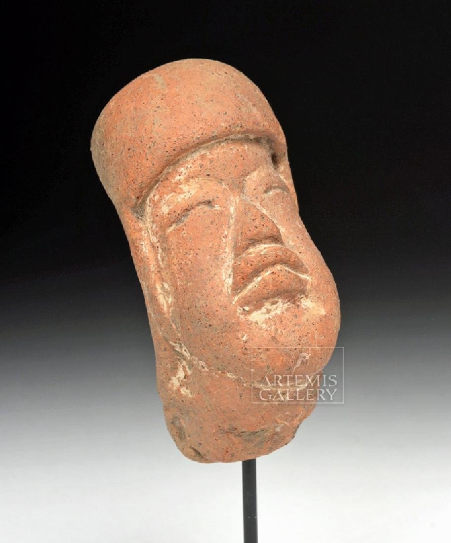 Expressive Olmec Pottery Baby Head