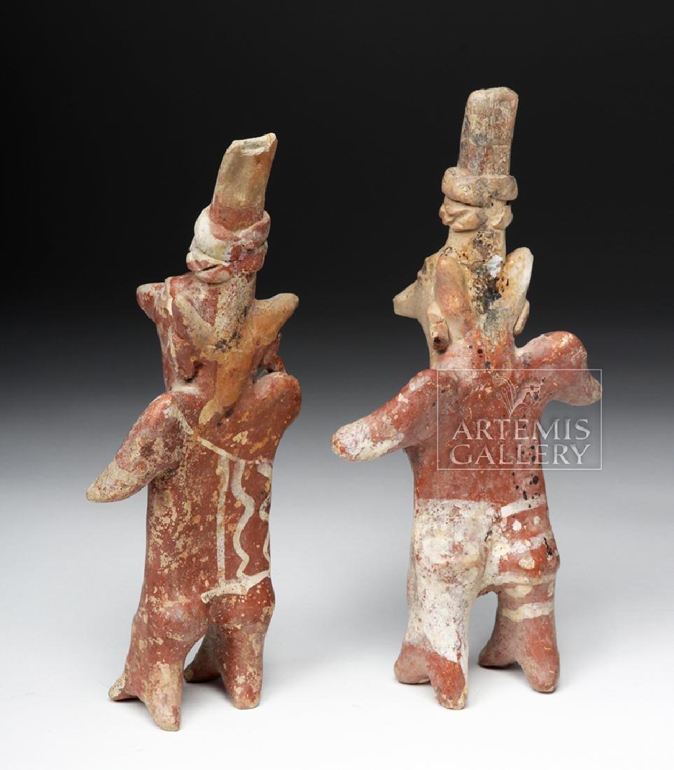 Pair of Jalisco Sheepface Female Ceramic Figures - 3