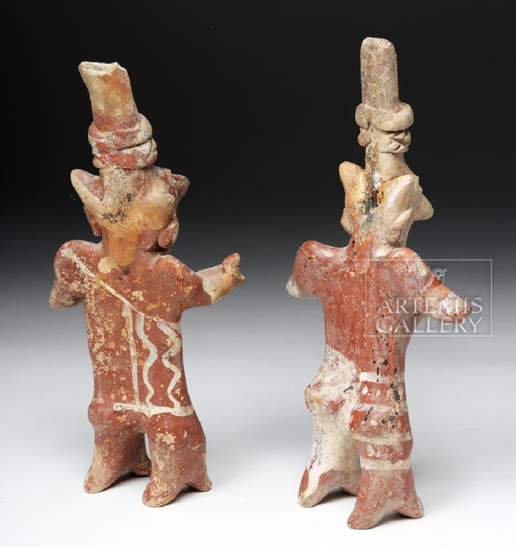 Pair of Jalisco Sheepface Female Ceramic Figures - 4