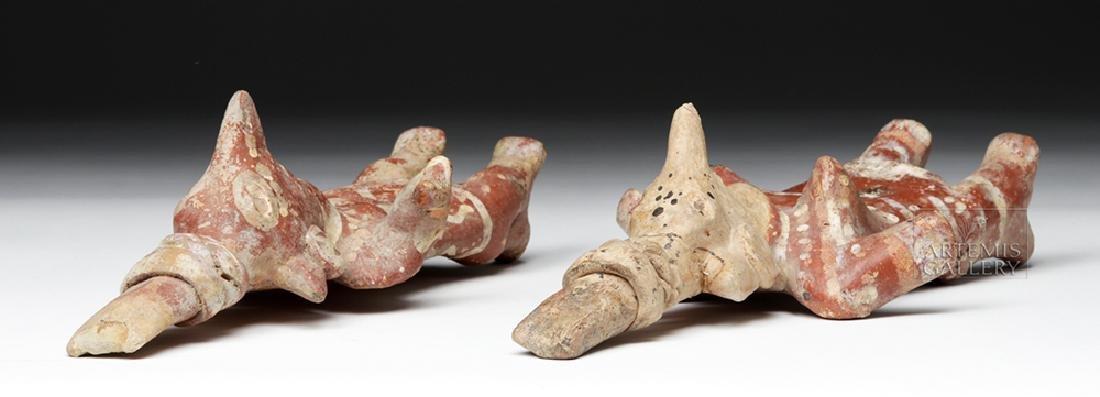 Pair of Jalisco Sheepface Female Ceramic Figures - 7