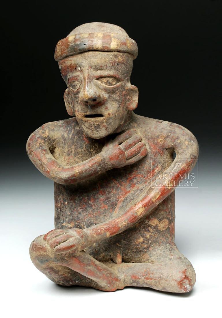 Jalisco Pottery Seated Male Figure - Ex-Arte Primitivo