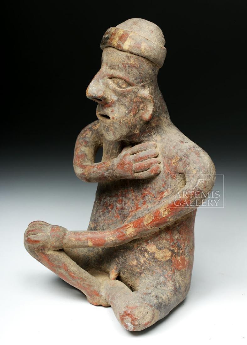 Jalisco Pottery Seated Male Figure - Ex-Arte Primitivo - 2