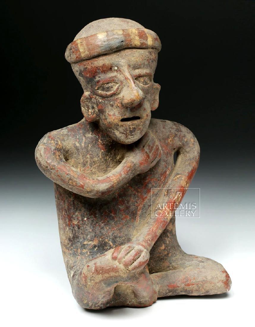 Jalisco Pottery Seated Male Figure - Ex-Arte Primitivo - 5