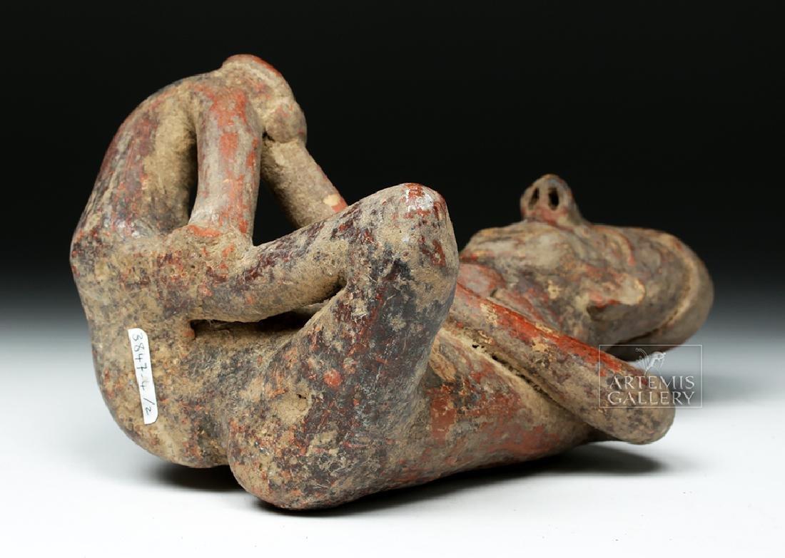 Jalisco Pottery Seated Male Figure - Ex-Arte Primitivo - 6