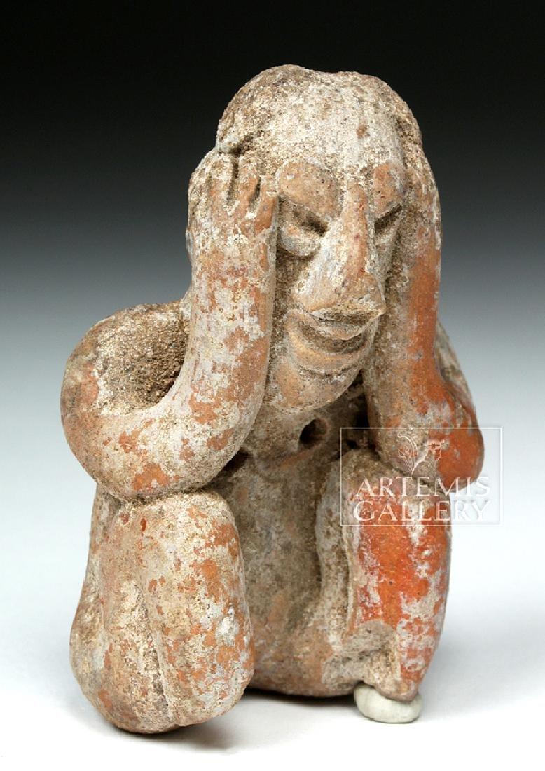 Jalisco Pottery Seated Figure - Headache Cure