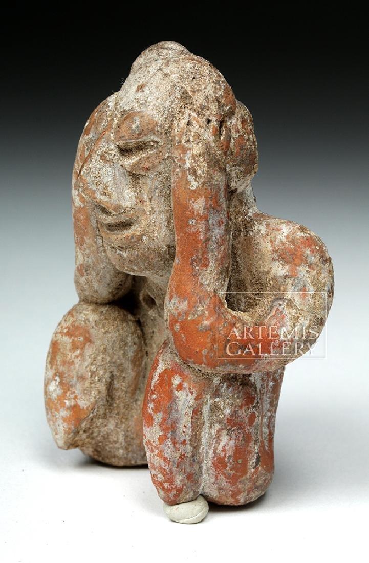 Jalisco Pottery Seated Figure - Headache Cure - 5
