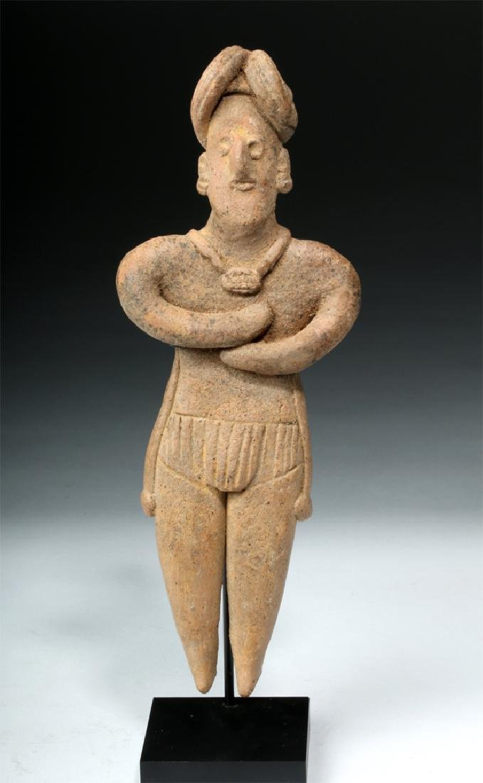 Tall Colima Standing Pottery Flat Figure