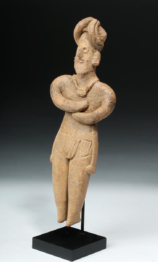 Tall Colima Standing Pottery Flat Figure - 2