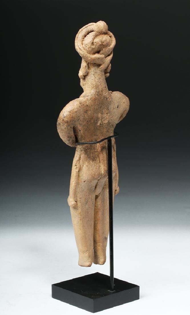 Tall Colima Standing Pottery Flat Figure - 3