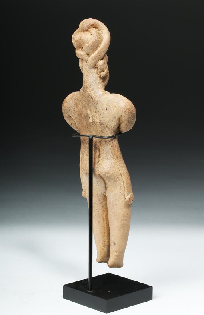 Tall Colima Standing Pottery Flat Figure - 4